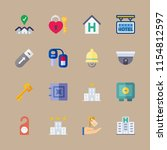 key vector icons set. security...   Shutterstock .eps vector #1154812597