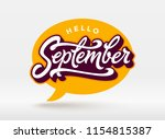 Hello September Typography Wit...