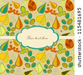 seamless pattern with autumn... | Shutterstock .eps vector #115481695