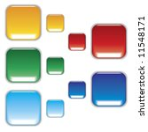 aqua buttons for web icons   Shutterstock .eps vector #11548171