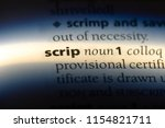 Small photo of scrip word in a dictionary. scrip concept.