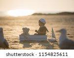 cute baby child  sweet boy ...   Shutterstock . vector #1154825611