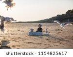 cute baby child  sweet boy ...   Shutterstock . vector #1154825617