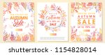 autumn special offer banners... | Shutterstock .eps vector #1154828014