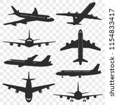 airplanes silhouettes set.... | Shutterstock .eps vector #1154833417