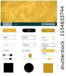 light orange vector ui ux kit...