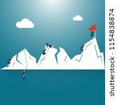 success or target achievement... | Shutterstock .eps vector #1154838874