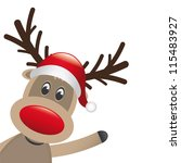 reindeer red nose wave | Shutterstock .eps vector #115483927