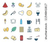 food and drink isolated vector ...   Shutterstock .eps vector #1154841817