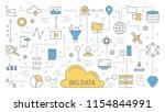 big data concept. modern... | Shutterstock .eps vector #1154844991