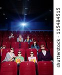 projector light in the movie... | Shutterstock . vector #115484515