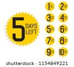 number of days left label for... | Shutterstock .eps vector #1154849221
