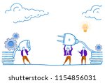 ready to connect business men... | Shutterstock .eps vector #1154856031