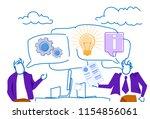 businessmen chat bubble... | Shutterstock .eps vector #1154856061