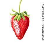 strawberry isolated on white... | Shutterstock . vector #1154862247