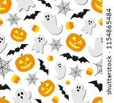 Halloween Background Seamless...