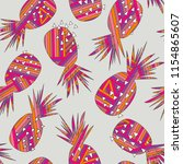 abstract pineapple vector... | Shutterstock .eps vector #1154865607