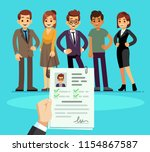 recruitment. recruiter choosing ... | Shutterstock .eps vector #1154867587