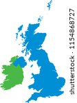 united kingdom and ireland flat ... | Shutterstock .eps vector #1154868727