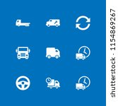 9 lorry icons in vector set.... | Shutterstock .eps vector #1154869267