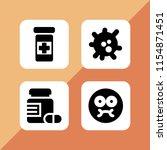 illness icon. 4 illness set... | Shutterstock .eps vector #1154871451