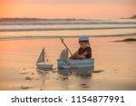 cute baby child  sweet boy ...   Shutterstock . vector #1154877991