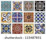 Dtail Of The Traditional Tiles...