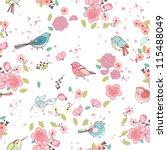 Seamless Bird Theme Pattern