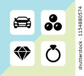 expensive icon. 4 expensive set ... | Shutterstock .eps vector #1154880574