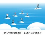 individual thinking and new... | Shutterstock .eps vector #1154884564