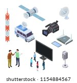 broadcasting equipment.... | Shutterstock .eps vector #1154884567