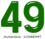numeral 49  forty nine ... | Shutterstock . vector #1154885497