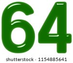 numeral 64  sixty four ... | Shutterstock . vector #1154885641