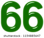 numeral 66  sixty six  isolated ... | Shutterstock . vector #1154885647