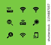 wi fi icon. 9 wi fi set with... | Shutterstock .eps vector #1154887057
