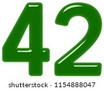numeral 42  forty two  isolated ... | Shutterstock . vector #1154888047