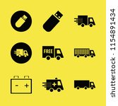 vehicle vector icons set. with...   Shutterstock .eps vector #1154891434