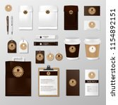 realistic set mock up template... | Shutterstock .eps vector #1154892151