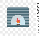 fireplace vector icon isolated...   Shutterstock .eps vector #1154893024