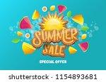 vector sammer sale horizontal... | Shutterstock .eps vector #1154893681