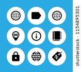 9 address icons in vector set....   Shutterstock .eps vector #1154895301