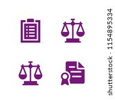 legal icon. 4 legal set with...   Shutterstock .eps vector #1154895334