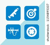 aiming icon. 4 aiming set with... | Shutterstock .eps vector #1154895337
