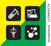 4 biochemistry icons in vector... | Shutterstock .eps vector #1154896174