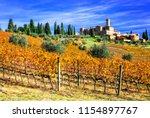 picturesque  tuscany  ... | Shutterstock . vector #1154897767