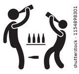 two young adults taking drinks ... | Shutterstock .eps vector #1154898301
