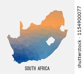south africa map in geometric... | Shutterstock .eps vector #1154900077