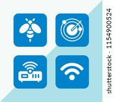 antenna icon. 4 antenna set... | Shutterstock .eps vector #1154900524