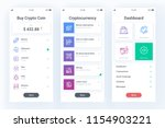 cryptocurrency mobile app with... | Shutterstock .eps vector #1154903221