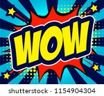 wow comic text in speech bubble.... | Shutterstock .eps vector #1154904304